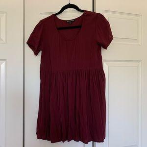 Brandy Melville Babydoll Maroon Dress